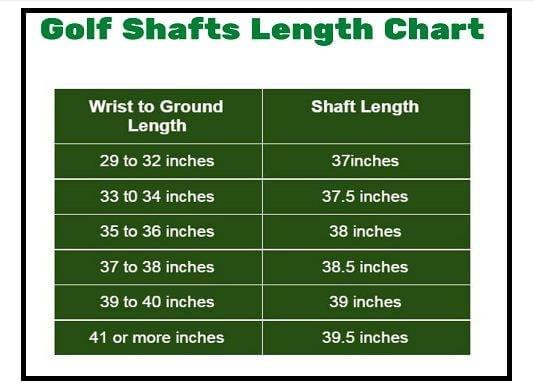 golf shaft length calculator